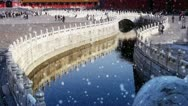 Forbidden city & water moat bridge,China's royal architecture. Stock Footage