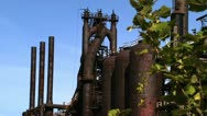 Stock Video Footage of Bethlehem Steel Blast Furnaces Medium