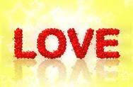 Love text made of heart shape Stock Illustration