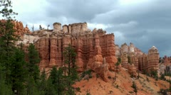 Rock formations at Dixie National Forest  (Scenic Byway 12, Utah, USA) Stock Footage