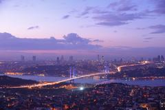 Istanbul turkey bosporus bridge Stock Photos