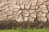 Soil along the canal. Stock Photos