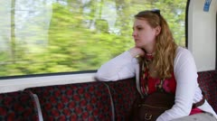 Young woman in tube - HD Stock Footage