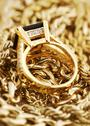 Stock Photo of Gold jewelry close up..shallow dof