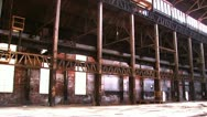 Stock Video Footage of Bethlehem Steel Ruins of Factory 1