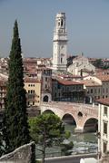Ponte Pietra in Verona - stock photo
