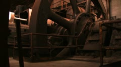 Bethlehem Steel Massive Wheel/ Gear Work room Stock Footage