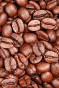 Coffee beans forming a background Stock Photos