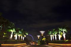 Front of garden by the bay2 Stock Photos
