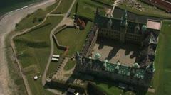 Kronborg Castle, Helsingør, Denmark Stock Footage