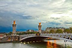 Stock Photo of bridge of alexandre iii,  paris, france