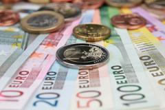 two euro - stock photo