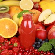 Freshly squeezed juice Stock Photos