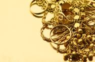 Stock Photo of Mixed gold jewelry