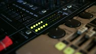Stock Video Footage of Professional Mixing Desk Sound Mastering