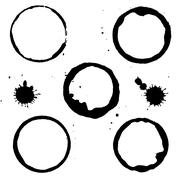 black stain - stock illustration