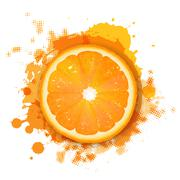 orange with orange blob - stock illustration