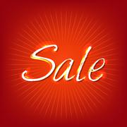 Red sale poster Stock Illustration