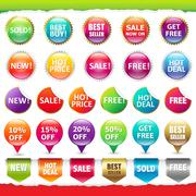 sale stickers and labels - stock illustration