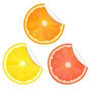 Citrus stickers Stock Illustration