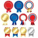 Stock Illustration of ribbons rosette badge