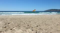 Beach - Life Guards Flag - Ok Stock Footage