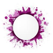 abstract violet bubble with blobs - stock illustration