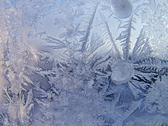 Stock Photo of Ice pattern on winter glass