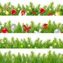 Stock Illustration of big borders set with christmas tree