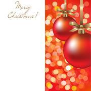 Christmas card with ball Stock Illustration