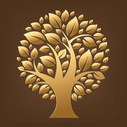 gold tree - stock illustration