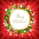 Stock Illustration of merry christmas card with garland