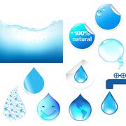 Water symbols set Stock Illustration