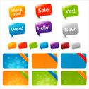 Web text boxes and speech bubbles Stock Illustration