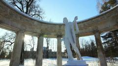 PAN: Apollo Colonnade in Pavlovsk, the environ of St. Petersburg, Russia Stock Footage