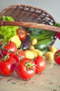 Stock Photo of organic vegetables