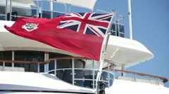 Nautical flag flying on yacht Stock Footage