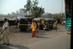 Mumbai Hindu Priest - stock photo