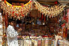 Mumbai market - stock photo