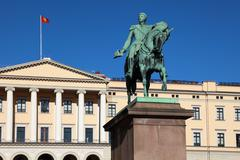 The royal palace in oslo, norway Stock Photos