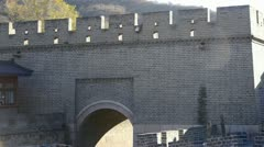 Ancient city Great Wall Battlements.Chinese cultural elements. Stock Footage