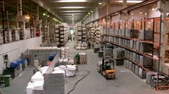Work at the warehouse complex. Stock Footage
