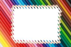 color pencils forming a frame - stock photo