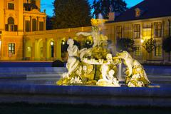 Fountain at the schonbrunn palace in vienna Stock Photos