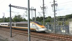 Eurostar train. Stock Footage