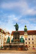monument at hofburg palace in vienna, austria - stock photo