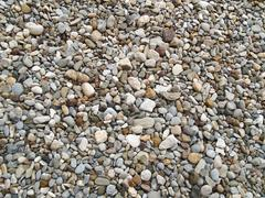 Medium-sized pebbles as background texture Stock Photos