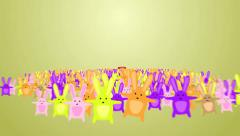 Rabbits wishes Happy Easter Stock Footage