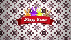 Easter Wish - White Red Pattern Stock Footage