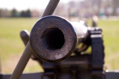Civil War Cannon barrel - stock photo